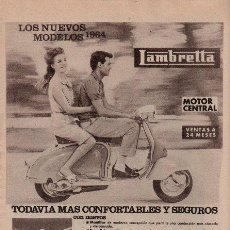 Coches y Motocicletas: PUBLICIDAD ANTIGUA. MOTOS. LAMBRETTA. 1964.. Lote 28309872