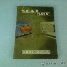 Coches y Motocicletas: CATALOGO SEAT 1430 , USO Y ENTRETENIMIENTO, MUY ILUSTRADO, 1971. Lote 28333221