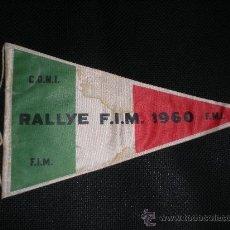Coches y Motocicletas: BANDERIN RALLYE F.I.M. MOTOCICLISMO 1960 MOTOS FIRENZE - LUGLIO. Lote 28370255