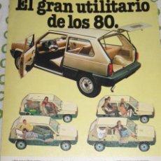 Coches y Motocicletas: QUEX - PUBLICIDAD AUTOMOVIL COCHES CLASICOS - ANUNCIO COCHE SEAT PANDA. Lote 28396199