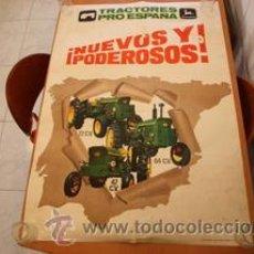 Coches y Motocicletas: TRACTOR JOHN DEERE 1969 LANZ IBERICA CARTEL PUBLICITARIO. Lote 28923229