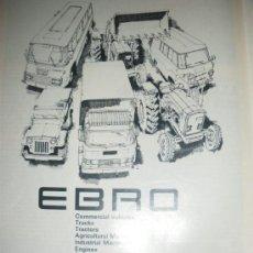 Coches y Motocicletas: PUBLICIDAD DE EBRO. MOTOR IBERICA BARCELONA.. Lote 21762606