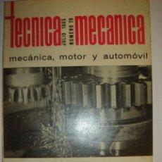 Coches y Motocicletas: REVISTA TECNICA MECANICA MOTOR Y AUTOMOVIL JULIO 1965 NUMERO 78. Lote 29033890