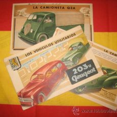 Coches y Motocicletas: CATALOGO COCHES Y FURGONETAS PEUGEOT 203U Q3A Y MAS. Lote 29168594
