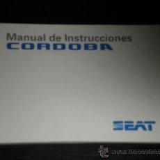 Coches y Motocicletas: SEAT CORDOBA - MANUAL USUARIO ORIGINAL - 1994- ESPAÑOL. Lote 29669998