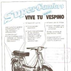 Coches y Motocicletas: LAMINA PUBLICIDAD ORIGINAL MOTO VESPA.VESPINO SC.. Lote 29773777