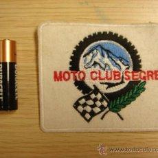 Coches y Motocicletas: PARCHE BORDADO MOTO CLUB SEGRE AÑOS 90 MOTOCICLISMO. Lote 29783563