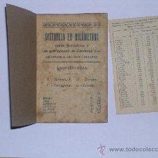 Coches y Motocicletas: LUBRIFICANTES FITO - LIBRITO DE DISTANCIA EN KILOMETROS 1926 BADALONA. Lote 29905827