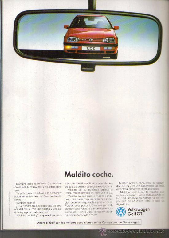 enchufe Trampolín Persona australiana  Volkswagen golf gti: anuncio publicitario de 19 - Sold through Direct Sale  - 29945903