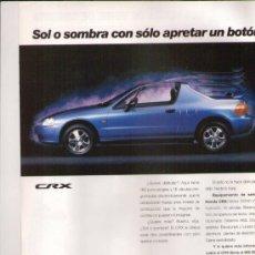 Coches y Motocicletas: HONDA CRX: ANUNCIO PUBLICITARIO 1993. Lote 29946145