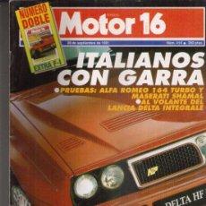 Coches y Motocicletas: MOTOR16 1991:MASERATI SHAMAL; ALFA ROMEO 164 TURBO; VW CARAVELLE; ETC.... Lote 30091910