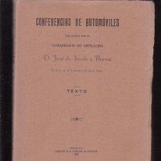 Coches y Motocicletas: CONFERENCIAS DE AUTOMOVILES / AÑO 1924 / POR : DON JOSE DE IRIARTE Y ARJONA , SEGOVIA - 1924. Lote 45979639