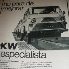 Coches y Motocicletas: DKW 71 EL ESPECIALISTA. IMOSA. MOTORES MERCEDES BENZ.. Lote 30347084