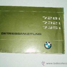 Coches y Motocicletas: BMW 728I-732I-735I. BETRIEBSANLEITUNG. MANUAL INSTRUCCIONES. Lote 30615626