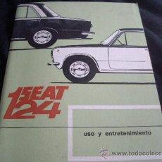 Coches y Motocicletas: SEAT 124-LIBRO DE INSTRUCCIONES USO Y ENTRETENIMIENTO-PRIMERA EDICION 1968. Lote 30880633