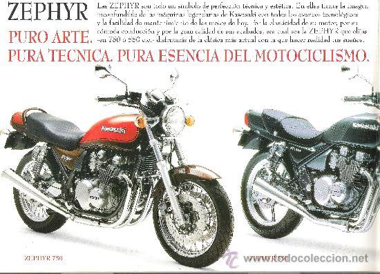 Coches y Motocicletas: catalogo original kawasaki zephyr 750 550 caracteristicas tecnicas - Foto 2 - 30883832