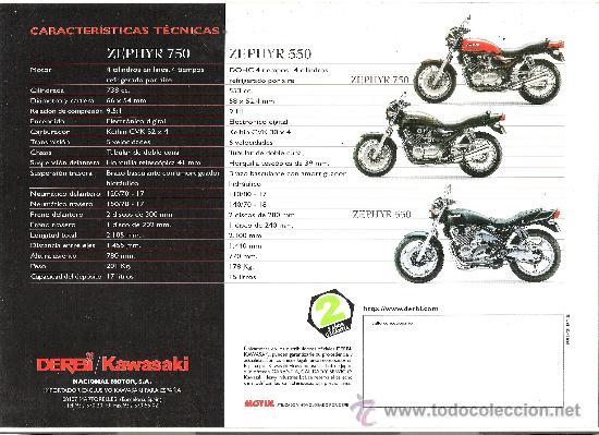 Coches y Motocicletas: catalogo original kawasaki zephyr 750 550 caracteristicas tecnicas - Foto 4 - 30883832