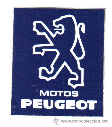 PEGATINA MOTOS PEUGEOT - MEDIDAS 7 X 6 (Coches y Motocicletas Antiguas y Clásicas - Catálogos, Publicidad y Libros de mecánica)