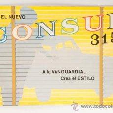 Coches y Motocicletas: CATALOGO COCHE EL NUEVO FORD CONSUL 315 - FORD MOTOR COMPANY LIMITED - INGLATERRA. Lote 31082232