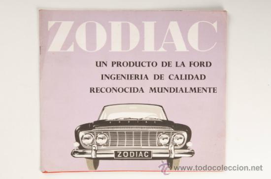 CATÁLOGO COCHE FORD ZODIAC - PRODUCTO DE LA FORD MOTOR COMPANY LIMITED (Coches y Motocicletas Antiguas y Clásicas - Catálogos, Publicidad y Libros de mecánica)
