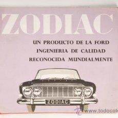 Coches y Motocicletas: CATÁLOGO COCHE FORD ZODIAC - PRODUCTO DE LA FORD MOTOR COMPANY LIMITED. Lote 31093831