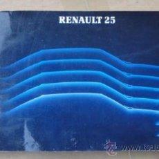 Coches y Motocicletas: MANUAL Y CARACTERISTICAS TECNICAS RENAULT 25 .AÑO 1985 (EDICION ALEMANA). Lote 31186019