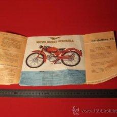 Coches y Motocicletas: CATALOGO MOTO GUZZI CARDELLINO 73, A DOS CARAS.. Lote 31226119