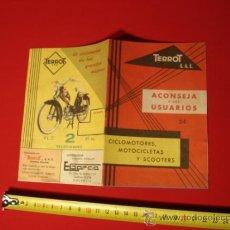 Coches y Motocicletas: PROPAGANDA CICLOMOTOR TERROT, AÑOS 50, CON 8 HOJAS NORMAS DE CIRCULACION. Lote 31232048