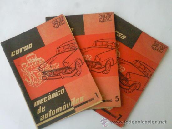 CURSO CEAC MECANICO DE AUTOMOVILES - FASCICULOS 1-5-7 -AÑO 1957 (Coches y Motocicletas Antiguas y Clásicas - Catálogos, Publicidad y Libros de mecánica)