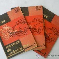 Coches y Motocicletas: CURSO CEAC MECANICO DE AUTOMOVILES - FASCICULOS 1-5-7 -AÑO 1957. Lote 31256028