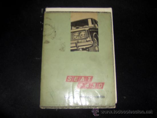 SEAT 1430 - USO Y ENTRETENIMIENTO (Coches y Motocicletas Antiguas y Clásicas - Catálogos, Publicidad y Libros de mecánica)