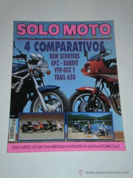 SOLO MOTO 30 Nº103 - HONDA VFR 750 F / SUZUKI GSX 750 F / KAWASAKI GPZ 400 FII / SUZUKI BANDIT 400 (Coches y Motocicletas Antiguas y Clásicas - Catálogos, Publicidad y Libros de mecánica)
