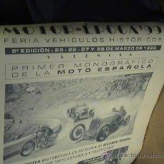 Coches y Motocicletas: CARTEL MOTOR EPOCA 99 VALENCIA . Lote 36336427