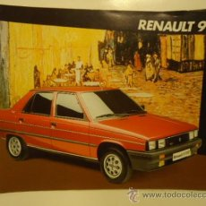 Voitures et Motocyclettes: CATALOGO COCHE RENAUTL 9 1986. Lote 31679754