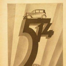 Coches y Motocicletas: + FIAT 514 PUBLICIDAD AÑO 1930 ANTIGUO RECORTE DE REVISTA GRAN TAMAÑO 24 X 32 CM TZ. Lote 31763996
