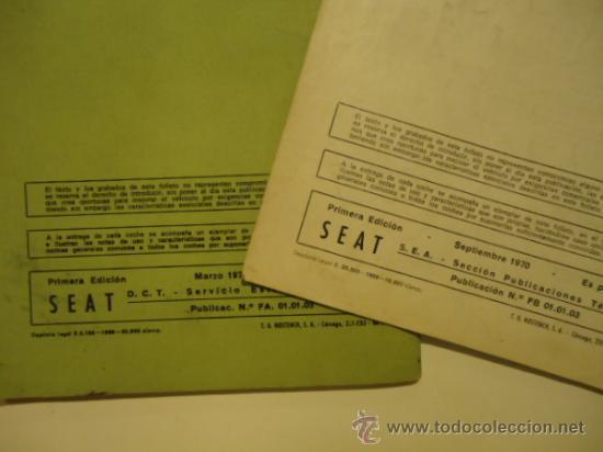 Coches y Motocicletas: SEAT 124 Y 124 L USO Y ENTRETENIMIENTO 1970 INSTRUCCIONES - Foto 4 - 31865321