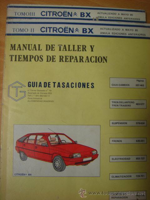 manual de taller y reparaciones citroen bx mayo comprar cat logos rh todocoleccion net manual citroen bx español manual de taller citroen bx gratis