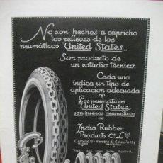 Coches y Motocicletas: + ANUNCIO DE NEUMÁTICOS, AÑO 1929. DIBUJOS DE LA RUEDA MUY CURIOSOS. GRAN TAMAÑO 27 X 36 CM. Lote 31963434
