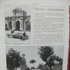 Coches y Motocicletas: + ABADAL BUICK GRAN TAMAÑO 27 X 36 CM. RECORTE DE REVISTA. AÑO 1919. Lote 31977564