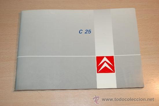 manual de mantenimiento citroen c25 comprar cat logos publicidad rh todocoleccion net Citroen C25 8M10 Longe citroen c25 workshop manual