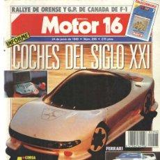 Coches y Motocicletas: MOTOR16 1989: AUDI V8; ALFA ROMEO 75; FERRARI KOENIG; UAZ MARTORELLI; MAHINDRA; ETC.... Lote 32281808