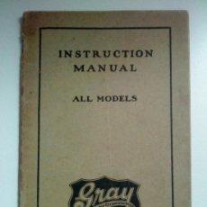 Coches y Motocicletas: LOTE DE 3 ARTÍCULOS: 2 MANUALES Y UN FOLLETO DESPLEGABLE DE AUTOMÓVILES GRAY - (CIRCA 1923/25). Lote 32562850