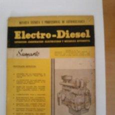 Coches y Motocicletas: ELECTRO-DIESEL N7 -ENERO 1961 -ESQUEMA CITROEN TIPO DS 19--FICHA DE TALLER SAURER T DCS-. Lote 32870693