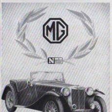 Coches y Motocicletas: PUBLICIDAD - MG - 1940/45 - APROXIMADAMENTE 10 X 15 CM.. Lote 32879010