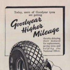 Coches y Motocicletas: PUBLICIDAD - GOOD YEAR NEUMÁTICOS - 1940/45 - APROXIMADAMENTE 10 X 15 CM.. Lote 32879606
