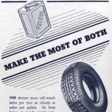 Coches y Motocicletas: PUBLICIDAD - NORTH BRITISH NEUMÁTICOS - 1940/45 - APROXIMADAMENTE 10 X 15 CM.. Lote 32879646
