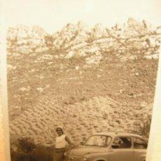 Coches y Motocicletas: + SEAT 600 MATRICULA ZARAGOZA 24532. ANTIGUA FOTOGRAFÍA 7 X 10 CM. Lote 33296196