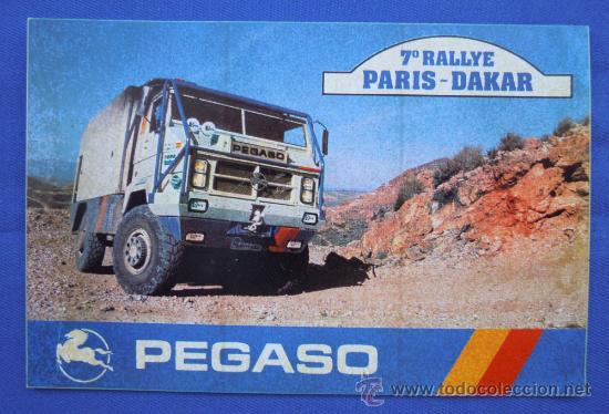 PEGATINA PEGASO 7º EDICION DEL RALLYE PARIS-DAKAR (Coches y Motocicletas Antiguas y Clásicas - Catálogos, Publicidad y Libros de mecánica)