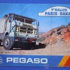 Coches y Motocicletas: PEGATINA PEGASO 7º EDICION DEL RALLYE PARIS-DAKAR. Lote 33504629
