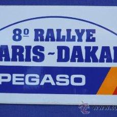 Coches y Motocicletas: PEGATINA PEGASO 8º RALLYE PARIS-DAKAR 7CM.X15,5 CM. Lote 33504692
